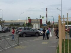 В Петербурге в ДТП возле ЗАГСа попала машина с женихом и невестой