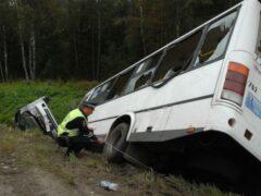 Мордовия: автобус с паломниками съехал в кювет