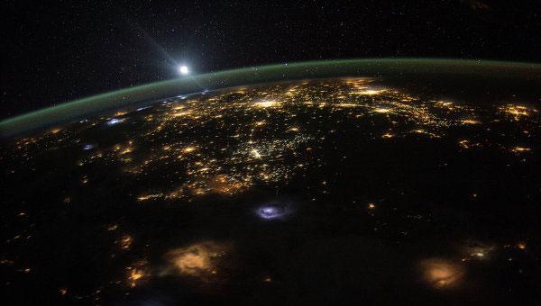 восход Солнца с борта МКС