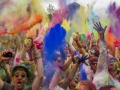 На фестивале красок в Москве произошла драка