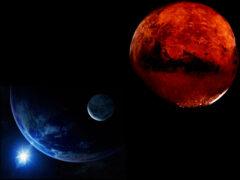 Ночью Марс максимально приблизился к Земле