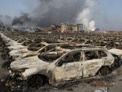 Четыре новых пожара разгорелись в Тяньцзине