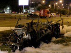 Устроивший огненное ДТП в Москве стритрейсер сбежал после гибели пассажирки
