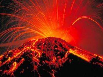 взрыв вулкана