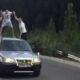 Алматы: трое парней катались на крыше автомобиля