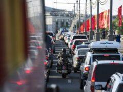 Скорость движения автотранспорта в Москве выросла на 8% за год
