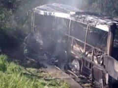 В Германии сгорел автобус, в котором ехали белорусские туристы
