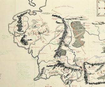 карта Средиземья с комментариями Толкина