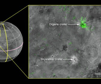 кратер с аммиаком на Хароне