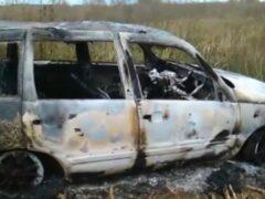 Машину вместе с водителем сожгли в Татарстане после ДТП