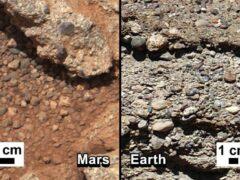 Curiosity нашел на Марсе речную гальку