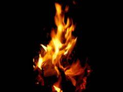 В Кемерове горел дом на улице Клары Цеткин