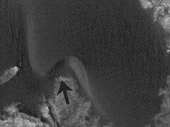 NASA показало снимки движения дюн на Марсе