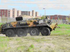 Москва: на стоянке автоломбарда полиция обнаружила БТР