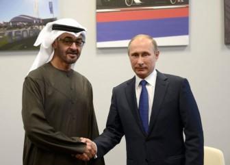 Путин и принц Абу-Даби