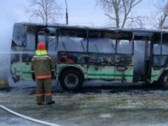 Из горящего автобуса на Ставрополье эвакуировали 19 детей