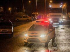 Московские полицейские со стрельбой задержали нарушителя на Mercedes
