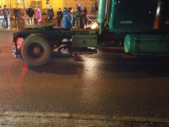 ДТП тягач сбил пешехода