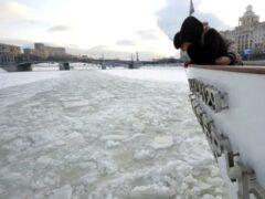 В Москве прохожие спасли провалившуюся под лед женщину с собакой