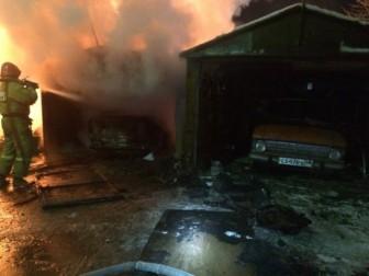 пожар гаражи