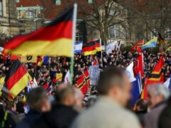 Тысячи противников исламизации Германии вышли на улицы Дрездена