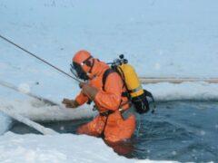 На западе Москвы мужчина провалился под лед при попытке спасти собаку
