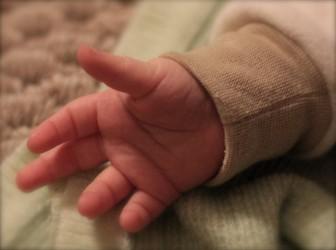ребенок рука