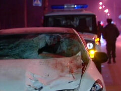 В Москве машина, сбившая насмерть пешехода, врезалась в стену дома