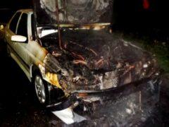 В Гомеле ночью на стоянке горели три автомобиля