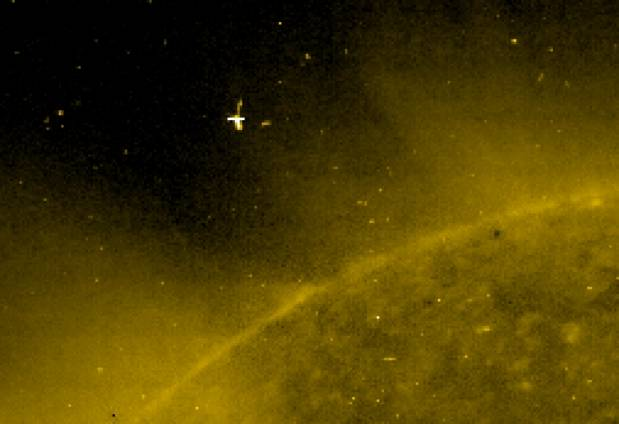 Огромное НЛО, пролетевшее рядом сСолнцем, опознал уфолог