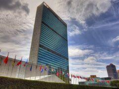 Неизвестный проник на территорию штаб-квартиры ООН в Нью-Йорке