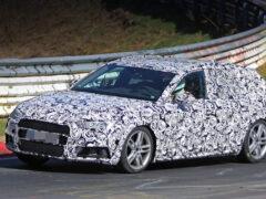 Спортивный седан A5 компании Audi выведен на дорожные тесты