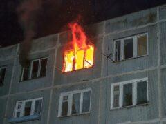 Пожар в Орше – один человек спасён, 10 эвакуировано