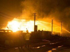 В Нижегородской области потушили горевшую цистерну со сжиженным газом