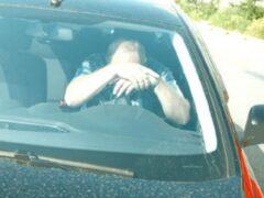 Омич, угнавший иномарку у тещи, уснул за рулем и врезался в столб