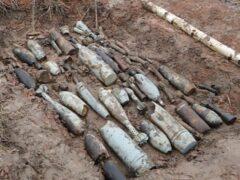 На Санкт-Петербургском шоссе нашли 35 снарядов времен ВОВ
