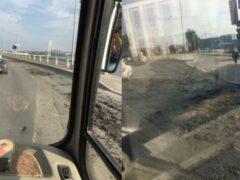 Петербург: На Октябрьской набережной разлили навоз