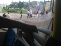 Петербург: «Рог» троллейбуса влетел в окно автобуса на «Ладожской»
