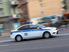В Екатеринбурге полицейская машина попала в ДТП