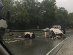 На Кубани в ДТП легковушку разорвало пополам, есть погибший