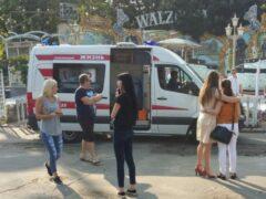 Калининград: с аттракциона в парке ЦПКиО выпали мужчина с ребенком