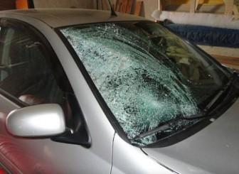 разбито лобовое стекло