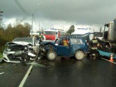 «Нива» с говядиной попала в ДТП на Киевском шоссе
