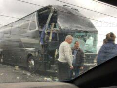 На Ставрополье в иномарку врезались два пассажирских автобуса