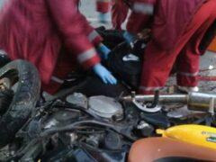В Новороссийске в ДТП с «Нивой» разбилась семейная пара на мотоцикле