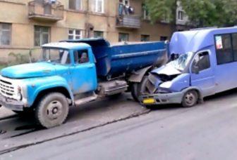 ДТП грузовик маршрутка