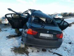 В Татарстане водитель BMW погиб в лобовом столкновении с фурой
