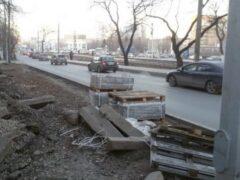 В Самаре на Ново-Садовой украли 4,5 тонны тротуарной плитки