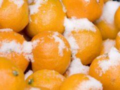 В Подмосковье Ярославское шоссе засыпало мандаринами