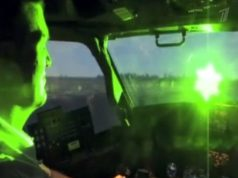 пилот самолета лазер